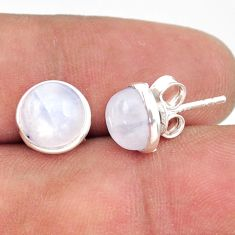 925 sterling silver 5.26cts natural rainbow moonstone stud earrings r41276