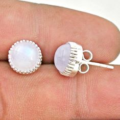 925 sterling silver 5.76cts natural rainbow moonstone stud earrings t43739