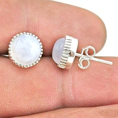 925 sterling silver 5.92cts natural rainbow moonstone stud earrings t43760