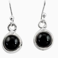 925 sterling silver 4.26cts natural rainbow obsidian eye dangle earrings r41104