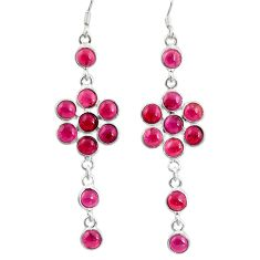 Clearance Sale- 925 sterling silver 16.73cts natural red garnet chandelier earrings d39876