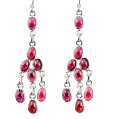 925 sterling silver 16.20cts natural red garnet chandelier earrings r38668