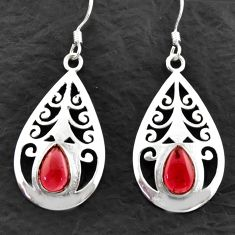 Clearance Sale- 925 sterling silver 5.37cts natural red garnet dangle earrings jewelry d40620