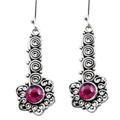 925 sterling silver 2.46cts natural red garnet dangle earrings jewelry d41154