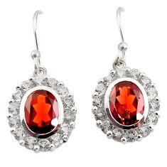 925 sterling silver 11.25cts natural red garnet dangle earrings jewelry d45768