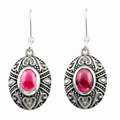 925 sterling silver 4.02cts natural red garnet dangle earrings jewelry d47025