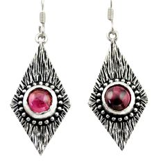 925 sterling silver 4.38cts natural red garnet dangle earrings jewelry d47085