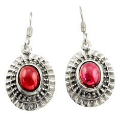 925 sterling silver 4.38cts natural red garnet dangle earrings jewelry d47124