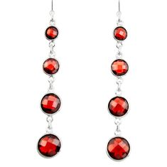 925 sterling silver 11.28cts natural red garnet dangle earrings jewelry r19978
