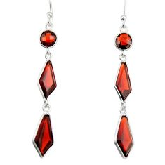 925 sterling silver 8.46cts natural red garnet dangle earrings jewelry r19984