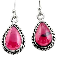925 sterling silver 7.00cts natural red garnet dangle earrings jewelry r21634