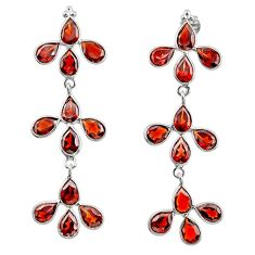 925 sterling silver 12.96cts natural red garnet dangle earrings jewelry r33200
