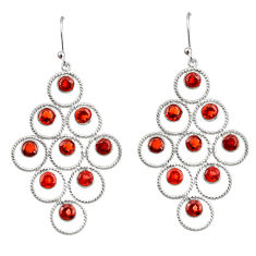 925 sterling silver 10.60cts natural red garnet dangle earrings jewelry r33224