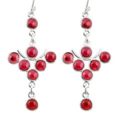 925 sterling silver 14.82cts natural red garnet dangle earrings jewelry r33572
