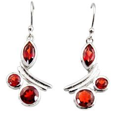 925 sterling silver 9.42cts natural red garnet dangle earrings jewelry r36777
