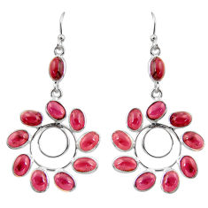 925 sterling silver 16.50cts natural red garnet dangle earrings jewelry r37445
