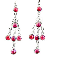 925 sterling silver 9.86cts natural red garnet dangle earrings jewelry r37533