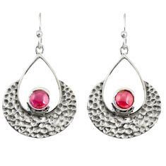 925 sterling silver 1.92cts natural red garnet dangle earrings jewelry r39091