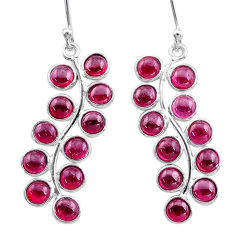 925 sterling silver 9.88cts natural red garnet dangle earrings jewelry t12404
