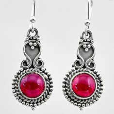925 sterling silver 2.68cts natural red garnet dangle earrings jewelry t26843