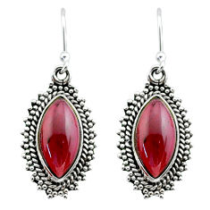 925 sterling silver 12.96cts natural red garnet dangle earrings jewelry t29927