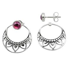 925 sterling silver 1.70cts natural red garnet dangle earrings jewelry t8244