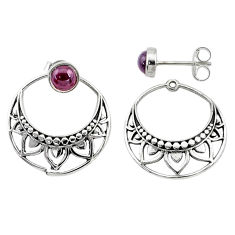 925 sterling silver 1.79cts natural red garnet dangle earrings jewelry t8268