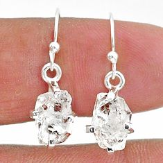 925 sterling silver 5.77cts natural white herkimer diamond dangle earrings t6818
