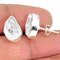 925 sterling silver 8.00cts natural white herkimer diamond earrings r69668
