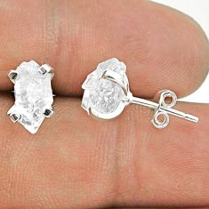 925 sterling silver 4.73cts natural white herkimer diamond stud earrings t50804