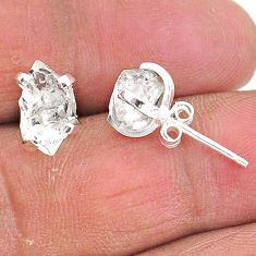 925 sterling silver 5.77cts natural white herkimer diamond stud earrings t6887