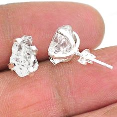 925 sterling silver 5.85cts natural white herkimer diamond stud earrings t6896