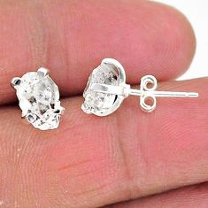 925 sterling silver 5.24cts natural white herkimer diamond stud earrings t6920