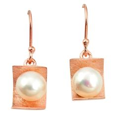 925 sterling silver natural white pearl 14k gold dangle earrings jewelry c23918