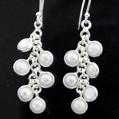 925 sterling silver 12.19cts natural white pearl chandelier earrings t1914