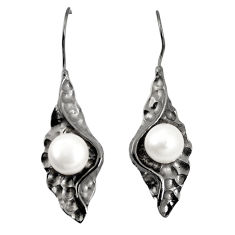925 sterling silver natural white pearl dangle earrings jewelry c24144