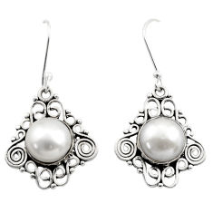 925 sterling silver 10.22cts natural white pearl dangle earrings jewelry d40700