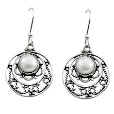 Clearance Sale- 925 sterling silver 7.01cts natural white pearl dangle earrings jewelry d40717
