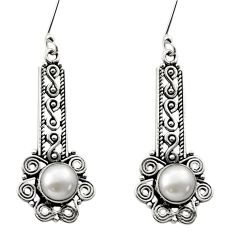 Clearance Sale- 925 sterling silver 2.73cts natural white pearl dangle earrings jewelry d40727