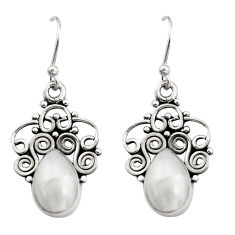 925 sterling silver 4.69cts natural white pearl dangle earrings jewelry r21732