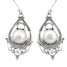 925 sterling silver 7.89cts natural white pearl dangle earrings jewelry r30907