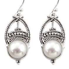 925 sterling silver 8.37cts natural white pearl dangle earrings jewelry r31024