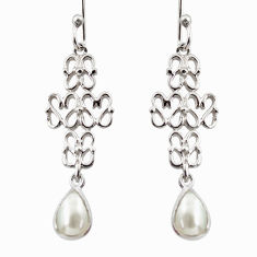 925 sterling silver 3.10cts natural white pearl dangle earrings jewelry r36897