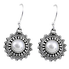 925 sterling silver 2.41cts natural white pearl dangle earrings jewelry r55235