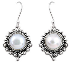 925 sterling silver 5.38cts natural white pearl dangle earrings jewelry r55291
