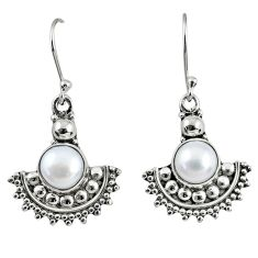 925 sterling silver 5.58cts natural white pearl dangle earrings jewelry r60608