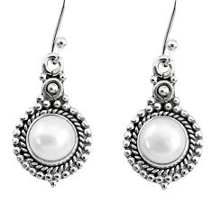 925 sterling silver 5.63cts natural white pearl dangle earrings jewelry r74913
