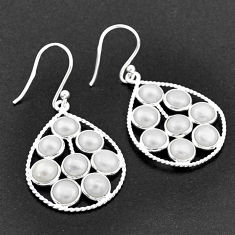 925 sterling silver 11.73cts natural white pearl dangle earrings jewelry t1817