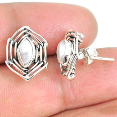 925 sterling silver 3.91cts natural white pearl earrings jewelry r67911