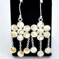 925 sterling silver 12.38cts natural white shiva eye chandelier earrings t4650